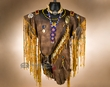 Native American Deer Skin Warrior Shirt & Knife -Creek  (ws2)