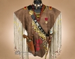Native American Warrior Shirt w/ Knife & Pistol -Creek  (ws2)