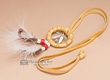 "Native American Dream Catcher Necklace 1.5"" -Gold  (1-1)"