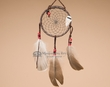 "Native American Dreamcatcher 4"" -Black  (6-52)"