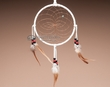 "Native American Dreamcatcher 6"" -White  (dc6-53)"