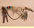 "Native American Elk Antler Spirit Stick 23"" -Tigua"