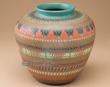 "Native American Etched Pottery Vase 9""  -Navajo (55)"