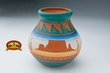 Native American Etched Pottery Vase -Monument  (184)