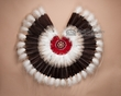"""Native American Feather Dance Bustle 36"""" (7)"""