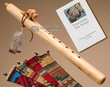 Native American Flute & Bag -Natural Buffalo