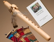 Native American Flute & Bag -Natural Turtle