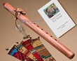 Native American Flute & Bag -Walnut Turtle