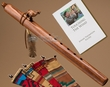 Native American Flute & Bag -Walnut Wolf