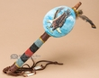 "Native American Gourd Rattle 14"" -Eagle  (159)"