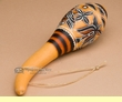 """Native Andean Gourd Rattle 8""""-Hand Etched  (163)"""