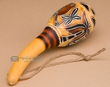 "Native Andean Gourd Rattle 8""-Hand Etched  (163)"