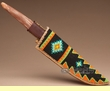 Native American Hand Beaded Sheath & Knife Set  (k26)
