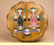 "Native American Hand Painted Drum 16"" -Navajo  (pd81)"