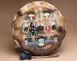 "Native American Hand Painted Drum 13"" -Navajo  (pd81)"