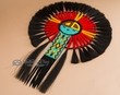 "Native American Horse Hair Bustle 16""x23"" -Sun Face  (b6)"
