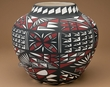 """Native American Hand Painted Pottery 11"""" -Acoma  (p246)"""