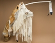 "Native American Coyote Bow & Quiver Case 46"" -White  (q9)"
