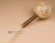 """Native American Indian Gourd Rattle 12"""" -Etched  (102)"""