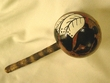 "Native American Apache Gourd Rattle 12"" - Feathers  (100)"