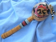 "Native American Indian Gourd Rattle 14"" -Gecko  (98)"