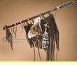 "Native American Indian Lance & Shield 41"" -Tigua  (tm3)"