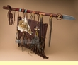 "Native American Indian Lance & Shield 42"" -Tigua  (tm3)"