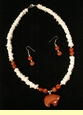 "Native American Indian Necklace & Earring Set 20""  (8)"