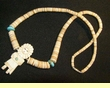 "Native American Indian Necklace -Tigua Kachina 22.5"" (108)"