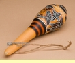 "Etched Andean Indian Rattle 6""  (161)"