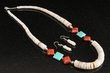 "Native American Jewelry -Necklace & Earring Set 21"" (121)"