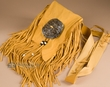 Indian Deerskin Medicine Bag & Belt -Shoshone  (b92)