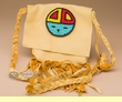 "Native American Pueblo Medicine Bag 5"" -Sun Face  (31)"