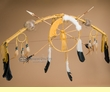 "Native American Medicine Bow & Arrow Set 44"" -Gold  (47)"