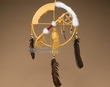 "Native American Medicine Man Shield 12"" -Gold  (12-1)"