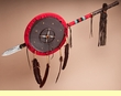 "Native American Medicine Shield & Lance 42"" -Tigua Indian"