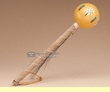 "Native American Navajo Ball Rattle 6"" - Gold (411)"