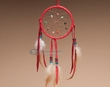 "Native American Navajo Dreamcatcher 4"" -Red"