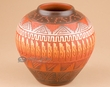 "Native American Navajo Etched Vase 5""  (m2)"