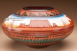 "Native American Navajo Etched Vase 8.5"" -Monument (p207)"