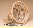 "Native American Apache Burden Basket 8""  (mt1)"