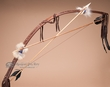 Native American Navajo Indian Bow & Arrow -Brown (b17)