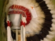 Native American Navajo Indian Headdress -Halo Warbonnet  (h1)