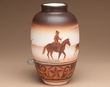 "Native American Navajo Indian Vase 9.5"" -Cowboy  (108)"
