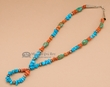 "Native American Navajo Jewelry -Bead Necklace  15""  (n157)"