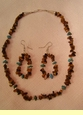 """Native American Navajo Jewelry -Necklace & Earring Set 16"""" (145)"""