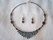 "Native American Navajo Jewelry -Necklace & Earring Set 17"" (136)"