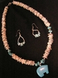 "Native American Navajo Jewelry -Necklace & Earring Set 20"" (149)"