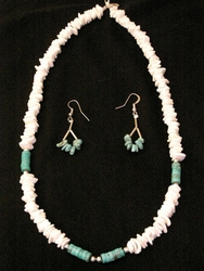 "Native American Navajo Jewelry -Necklace & Earring Set 20"" (156)"