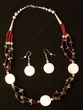 "Native American Navajo Jewelry -Necklace & Earring Set 20"" (157)"